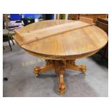 Oak Table With Claw Feet & Lions Head Legs