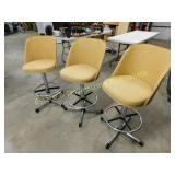3 Samsonite Mid Century Design Bar Stools