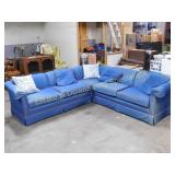 3 Piece Denim Sectional Couch