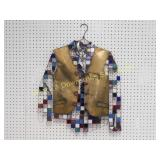 Stained Glass & Metal Wall Art Vest