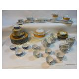 43 Pc Faiart & Vista Allegre Porcelain Dishes