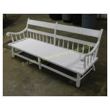 Capacious White Painted Bench