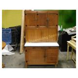 Hoosier Style Cabinet, Enameled Porcelain Counter