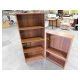 Pair of Wood Finish Bookcases