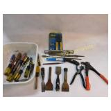 Lot of Files Wood Bits Chisels & More