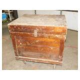 Large Hinged Wooden Storage Box