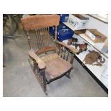 Vintage Spindle Back Rocking Chair