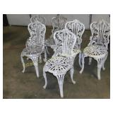 6 Cast Iron Patio/Outdoor Chairs