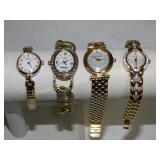 4 Ladies Designer Quartz Watches