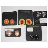 5 Pair of Carded Costume Clip Earrings