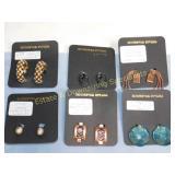 6 Pair Carded Clip Earrings