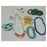 Lot of 8 Semiprecious Necklaces and Bracelets