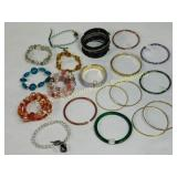 16 Pc Beaded Bracelets and Bangles