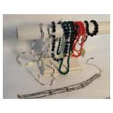 Lot of 7 Glass Bead Necklaces