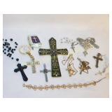 12 Pc Lot of Crucifix Jewelry