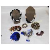 6 Fabulous Multi Strand Beaded Necklaces +