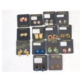 14Pc Carded Clip Earrings Nice Costume Lot