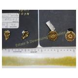 8 Pc Fabulous Costume Earrings Clip and Screws