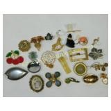 20 Pc Costume and Other Brooches