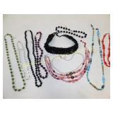 10 Piece Glass Bead Costume Necklace Lot