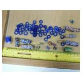 Cobalt and Millefiori Beads