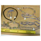 Fire Polish Lavender Onyx & Fluorite Bead Strands