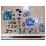 Cobalt, Millefiori, Chevron and Glass Beads