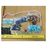 Amethyst Howlite Moss Agate Rose Quartz Beads +