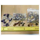 Czech Tortoise & Amethyst Glass Beads