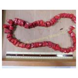 "16"" Strand Oversized Red Coral Beads"