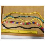 5 Magnesite Multicolored Skull Bead Strands