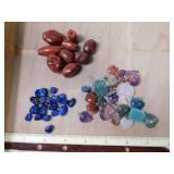 .5# Amethyst Lapis Quartz Carnelian Pendant/Beads