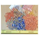 1.5# Sandcast & Clay Beads of Various Colors