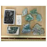 Wavellite Tourmaline Emerald & Onyx Specimens