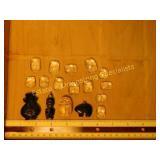 .5# Egyptian Echted Quartz Scarabs & Pendants