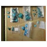 .5# Natural Turquoise Cabs Nuggets Etc