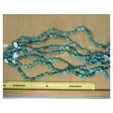 7 Turquoise Bead Strands Totaling 1#
