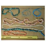 1# Pink Coral Turquoise Bead Strands