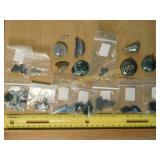 .5# Moss Agate Hematite Jade Polished Specimens