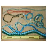 1# Turquoise Coral & Tigers Eye Bead Strands