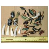 .5# Tooth Horn Wood & Jade Pendant/Bead