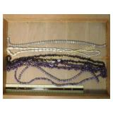 1# Amethyst & Mother of Pearl Bead Strands