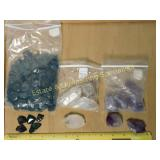 2# Bloodstone Quartz & Amethyst Mineral Specimens