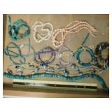 1# Coral Amethyst & Turquoise Bead Strands