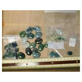 .5# Jade Cabochons and Other Beads