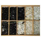 7# White & Black Plastic Glass Natural Stone Beads