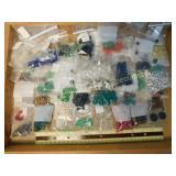 2# Glass Old Glass Alphabet Black Cobalt Beads