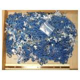 5# Blue Beaded and Aluminum Cross Rosaries