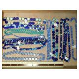 1# Blue Glass Cobalt Bead Strands