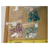 1# Amethyst Malachite & Wood Scarab Beads